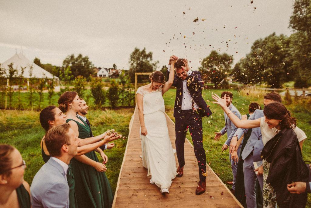 Summer wedding ceremony at Kattebroek, Dilbeek